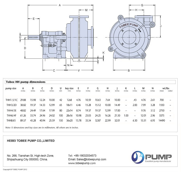 Tobee® THH High Head Slurry Pump Drawing