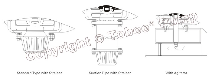 Tobee TJL Vertical Sump Pump 3 kinds of inlet construction