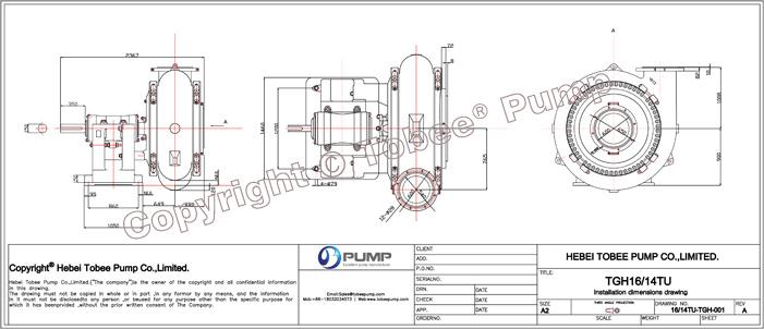 Tobee TGH16x14TU Sand Booster Pump, High Head Sand Pump