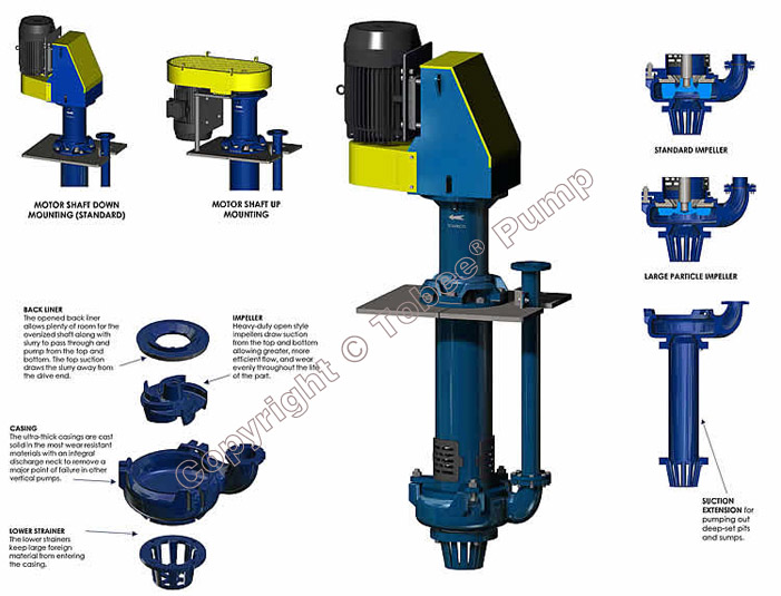Tobee TP100RV Vertical Spindle Pump Structural Drawing