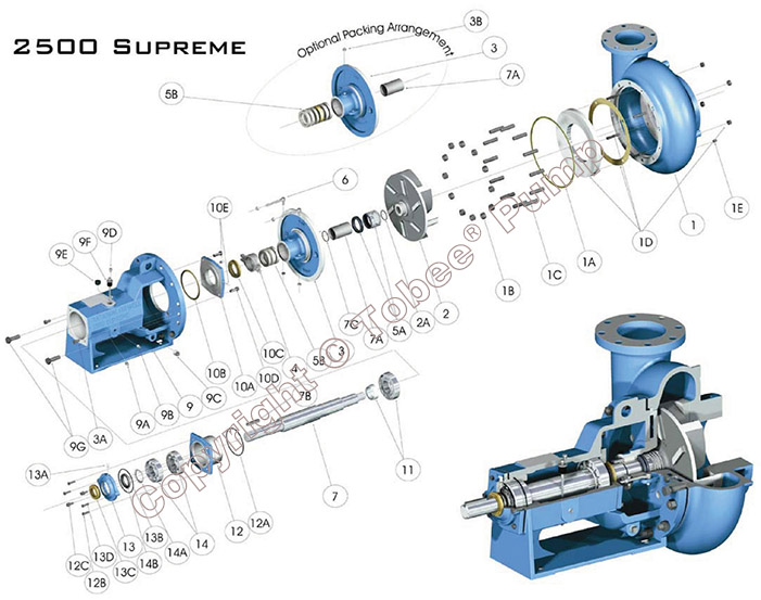 Mission 2500 Supreme Pump Structural Drawing
